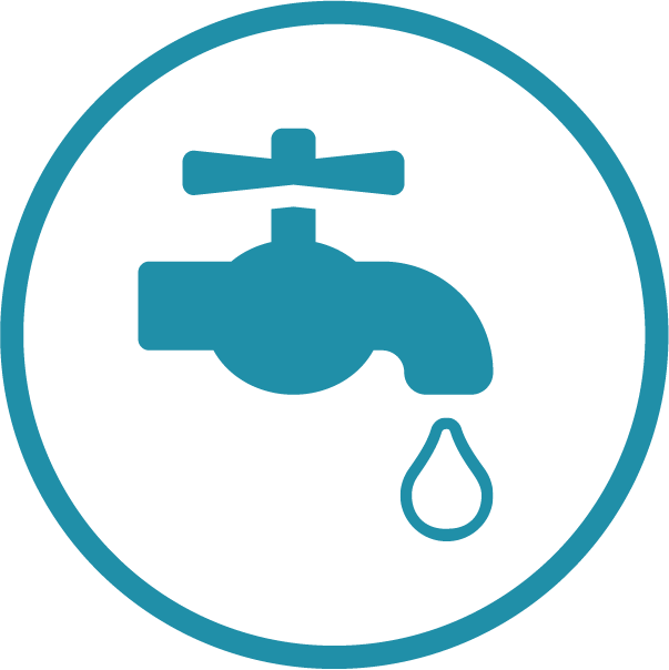 Dripping tap icon